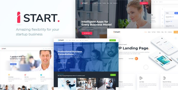 iStart - WordPress Startup Business Theme - Business Corporate