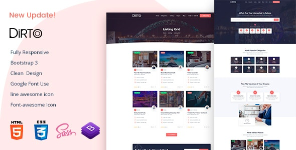 Dirto - Directory & Listing HTML Template - Business Corporate