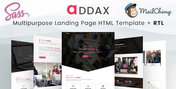 Addax   Multi-Purpose Landing Page HTML Templates
