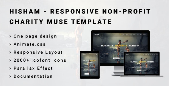HISHAM - Responsive Non Profit/Charity Muse Template - Miscellaneous Muse Templates