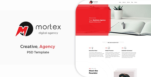 Mortex - Digital Agency PSD Template - Creative Photoshop