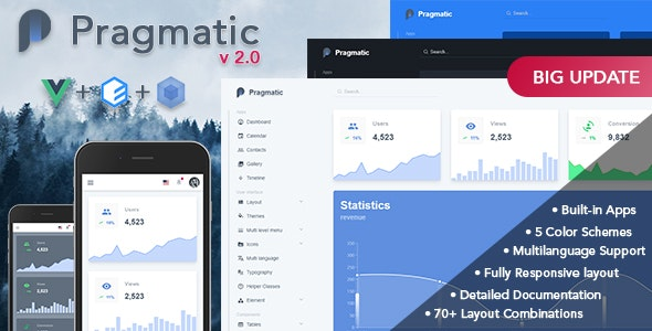Pragmatic - Vue js Admin Template by Linko91 | ThemeForest