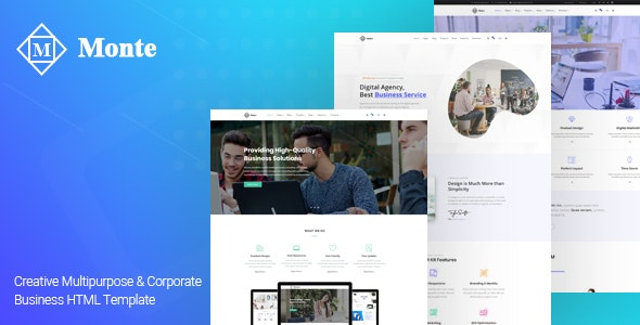 Monte - Creative Business HTML5 Template - Business Corporate