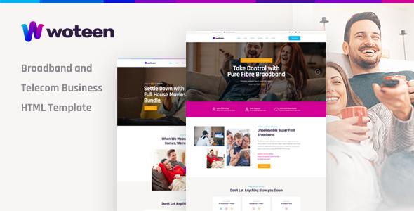 Woteen - Broadband and Telecom Business HTML Template - Business Corporate