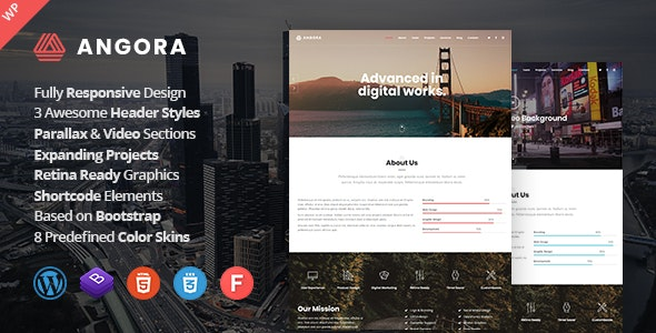Angora - Responsive One Page Parallax WordPress Theme - Creative WordPress
