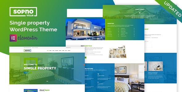 Sopnovilla – Single Property WordPress Theme