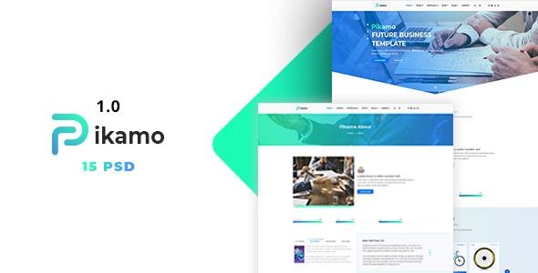 Picamo - Multipurpose Business PSD Template - Corporate Photoshop