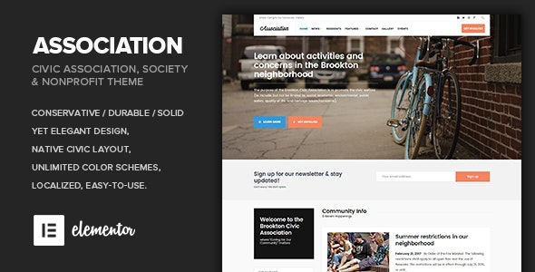 Association - Civic and Third Sector Nonprofit Theme - Nonprofit WordPress