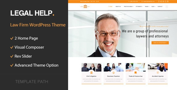 Legal Help - Law Firm WordPress Theme - Business Corporate