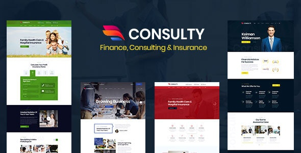 Consulty - Finance Consulting and Insurance HTML Template - Business Corporate