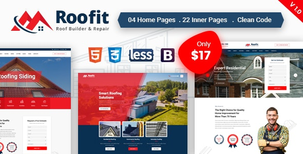 Roofit - Roofing Services HTML Template - Business Corporate