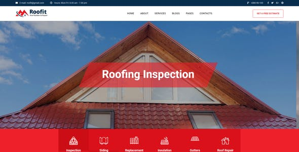 Roofit - Roofing Services HTML Template