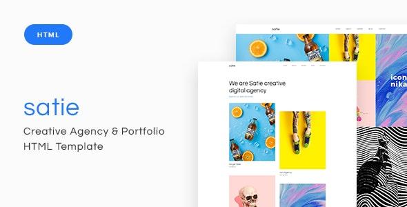 Satie - Creative Agency & Portfolio HTML Template - Portfolio Creative