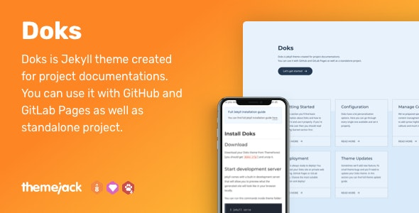 Doks — Jekyll Theme for Project Documentation - Jekyll Static Site Generators