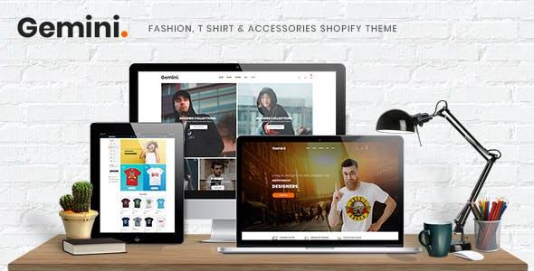 Gemini - Fashion, T Shirt & Accessories Shopify Theme