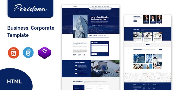 Peridona - Complete Business and Corporate Html Template - Business Corporate