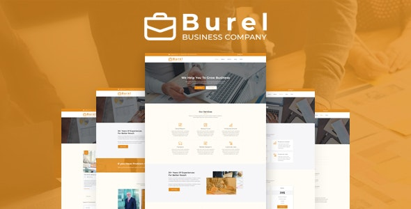 Burel - Corporate & Business PSD Template - Corporate Photoshop
