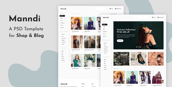 Manndi - A PSD Template For Shop & Blog - Shopping Retail