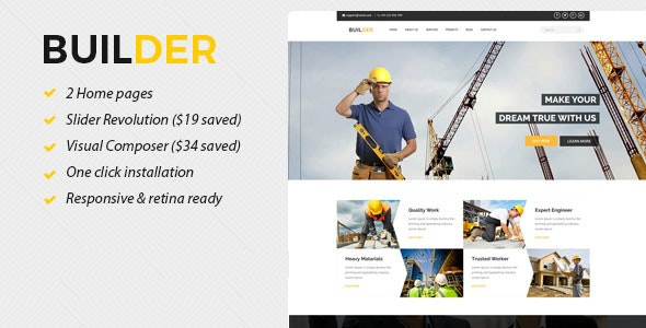 Builder - Construction WordPress Theme - Business Corporate