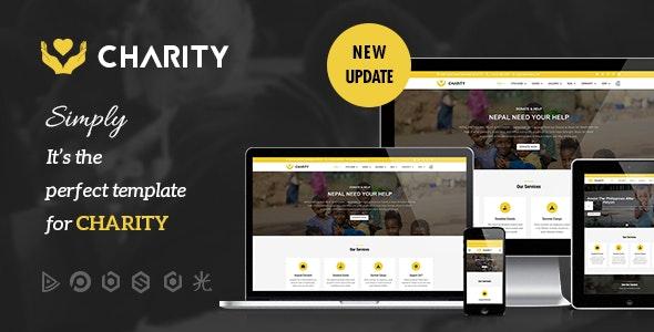 Charity - Nonprofit, Fundraising Joomla Template - Charity Nonprofit