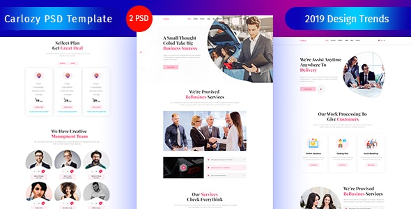 Carlozy - Business PSD Template. - Business Corporate