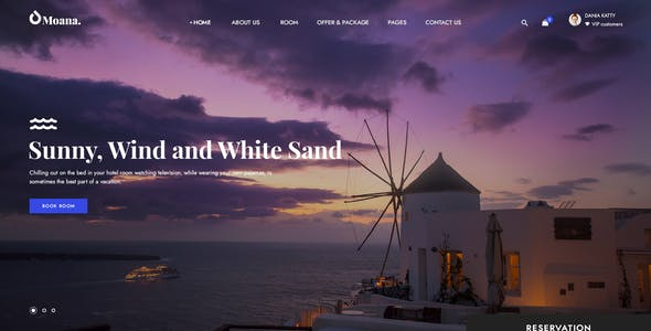 Moana - Resort and Hotel Template