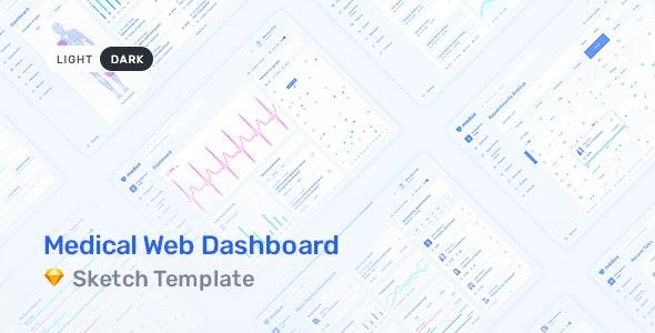Medux – Web Dashboard UI Kit for Sketch - Sketch UI Templates