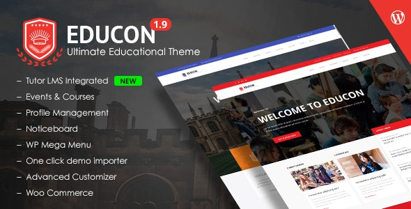 Educon - WordPress Education Theme with LMS compatibility - Education WordPress