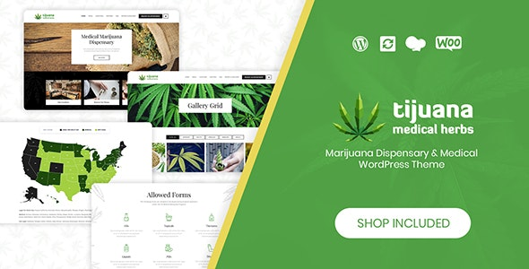 Tijuana - Marijuana Dispensary & Medical WordPress Theme - Health & Beauty Retail