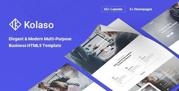 Kolaso - Modern Multi-Purpose HTML5 Template - Business Corporate