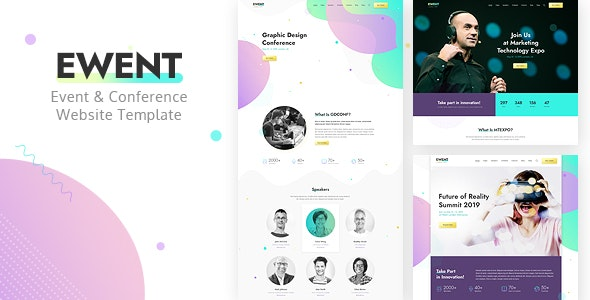 Ewent - Event & Conference Website Template by Monkeysan
