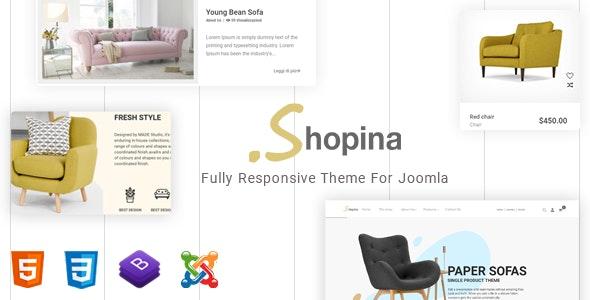 Shopina – Mobile Friendly Joomla Template - Shopping Retail