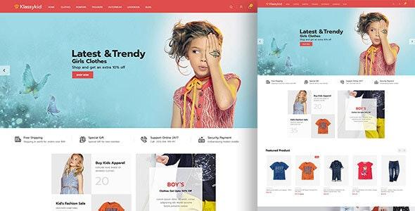Klassy Kids Fashion - Electronics Magento 2.3 Theme - Fashion Magento