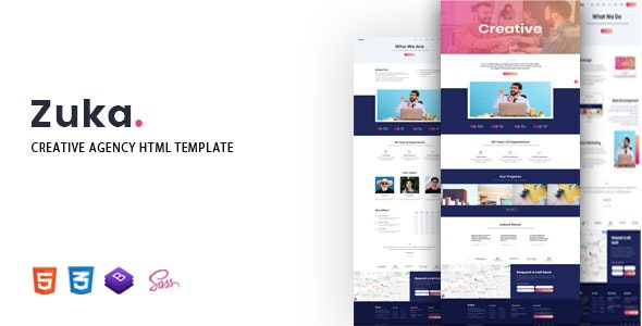 Zuka - Creative Agency HTML Template - Corporate Site Templates