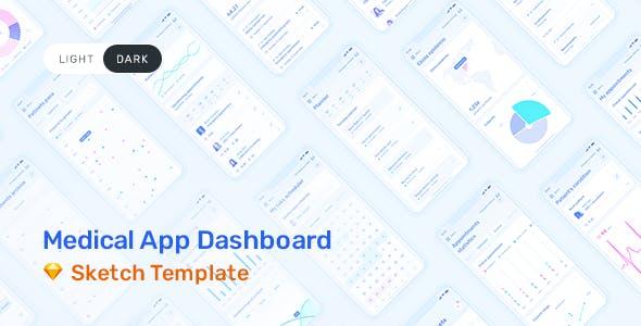 Medux – App Dashboard UI Kit for Sketch