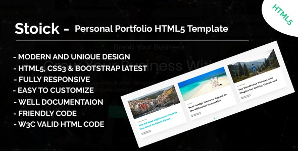 Stoick - Onepage MultiPurpose HTML5 Template - Business Corporate