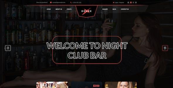 Domex - Night Club PSD Template