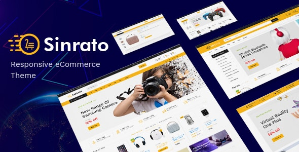 Sinrato - Electronics Theme for WooCommerce WordPress - WooCommerce eCommerce