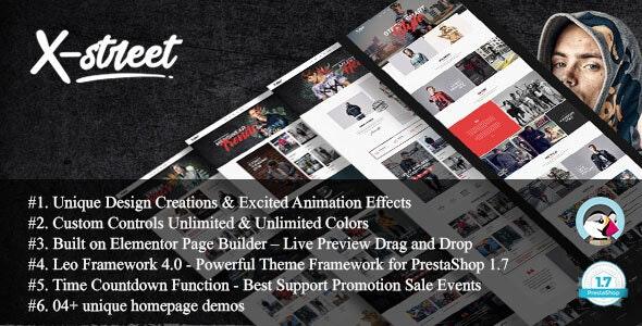 Xstreet - Street Fashion Boutique Prestashop Theme
