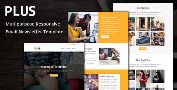 Plus - Multipurpose Responsive Email Template with Stampready Builder - Email Templates Marketing