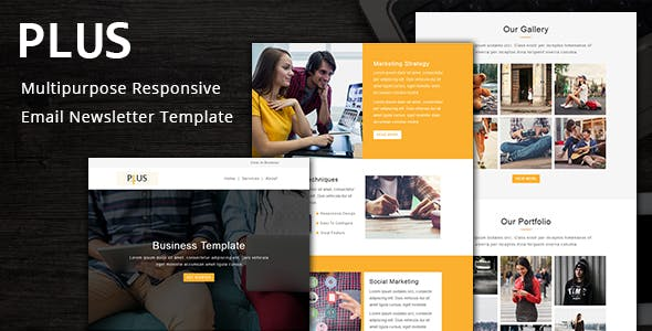 Plus - Multipurpose Responsive Email Template with Stampready Builder