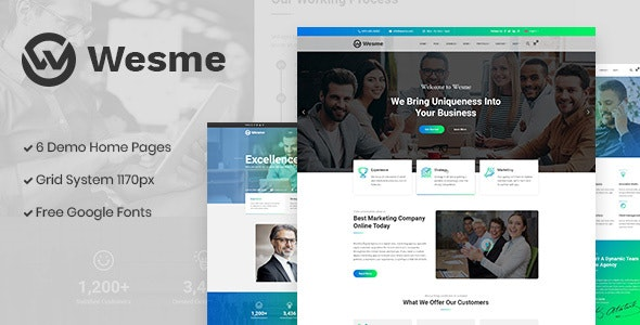 Wesme | Consulting Services & Corporate PSD Template - Business Corporate