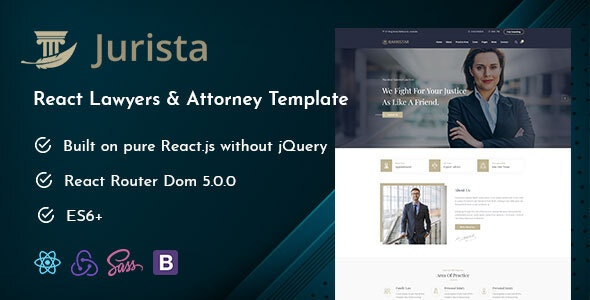 Jurista - Law Firm React Js Template by wpoceans | ThemeForest