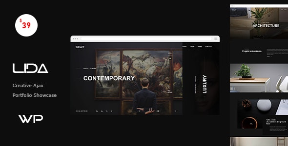 Lida - Ajax Portfolio WordPress Theme - Portfolio Creative