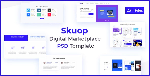 Skuop Digital Marketplace PSD Template - Business Corporate