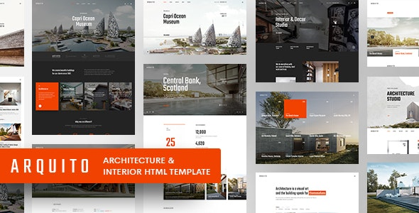 Arquito - 3D Architecture & Interior HTML Template - Business Corporate