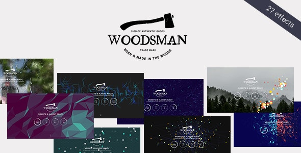 Woodsman - Exclusive Coming Soon WordPress Theme - Business Corporate