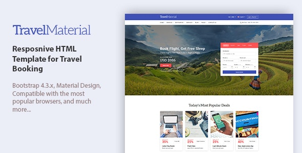 Travel Material - Resposnive HTML Template for Travel Booking - Travel Retail