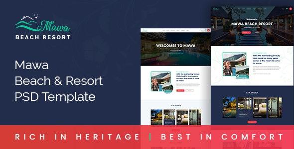 MAWA - Beach Resort PSD Template. - Travel Retail