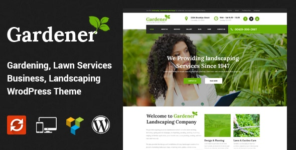 Gardener - Lawn and Landscaping WordPress Theme - Business Corporate